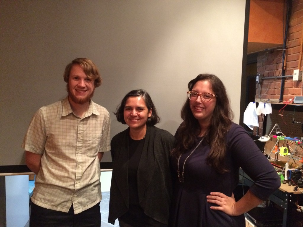 Alex B. Hill, DETROITography; Mita Williams, Open Data Windsor Essex Lead; Sarah Morris, Managing Director of Hackforge