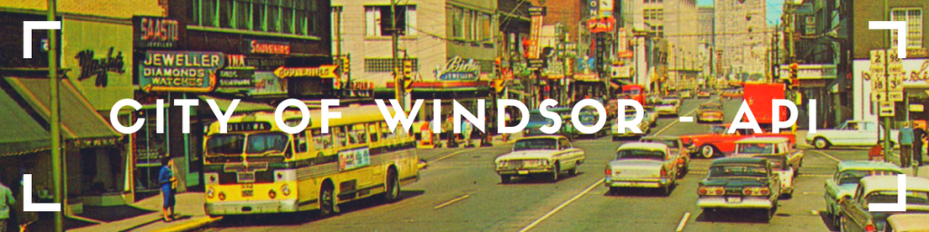 CITY Of Windsor - ApI